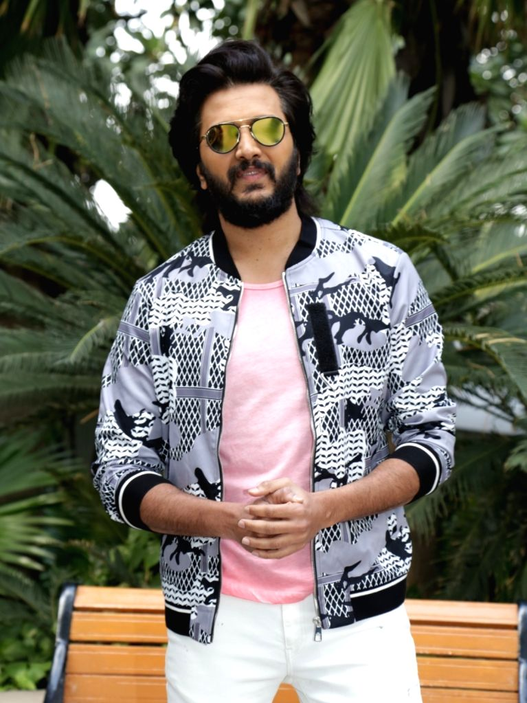 """Actor Riteish Deshmukh at the promotional interview of his upcoming film """"Total Dhamaal"""" in New Delhi, on Feb 18, 2019. - Riteish Deshmukh"""