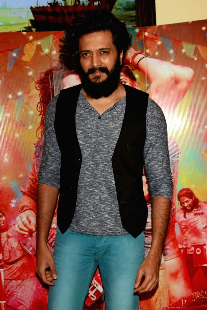 """Actor Riteish Deshmukh during a press confrence to promote his upcoming film """"Banjo"""" in New Delhi on Sept 19, 2016. - Riteish Deshmukh"""