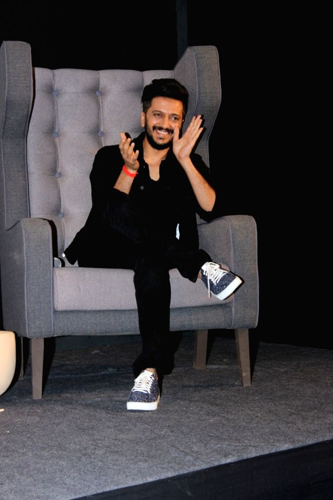 "Actor Riteish Deshmukh during promotions of their upcoming film ""Bank Chor"" Media Knockout The Rost in Mumbai, on May 29, 2017. - Riteish Deshmukh"