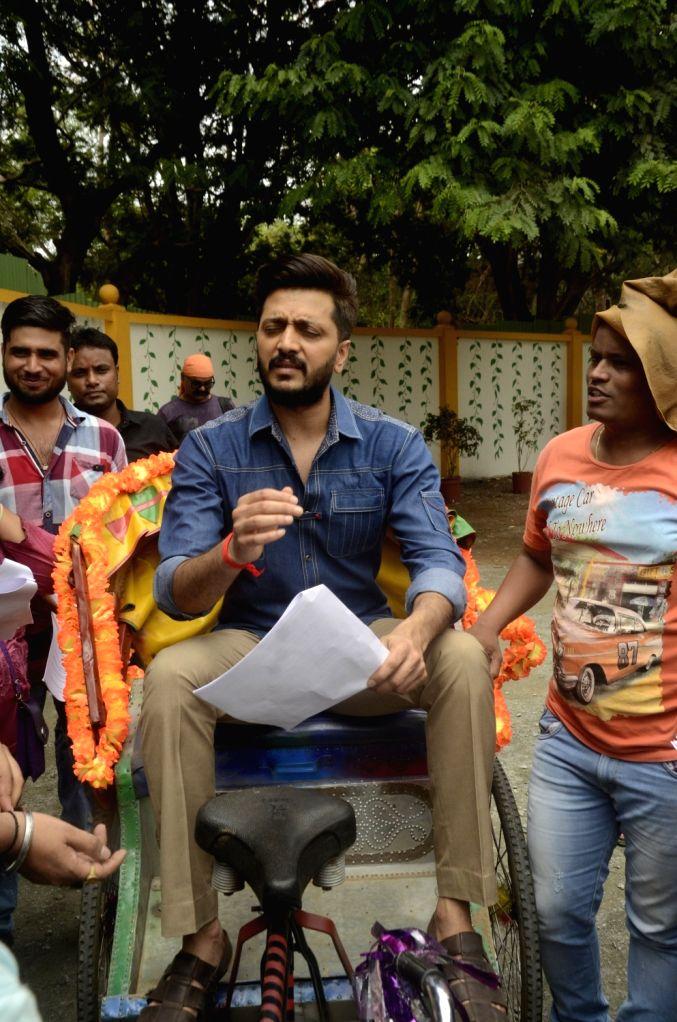 Actor Riteish Deshmukh during the promotion of film Bank Chor on the sets of Chidiya Ghar, in Mumbai on June 3, 2017. - Riteish Deshmukh