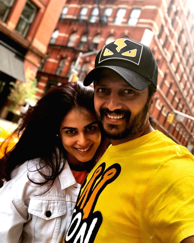 Actor Riteish Deshmukh shared a loved-up image with wife and actress Genelia from their vacation in New York, and says she is the sunshine of his life. Riteish posted a candid selfie with Genelia on ... - Riteish Deshmukh
