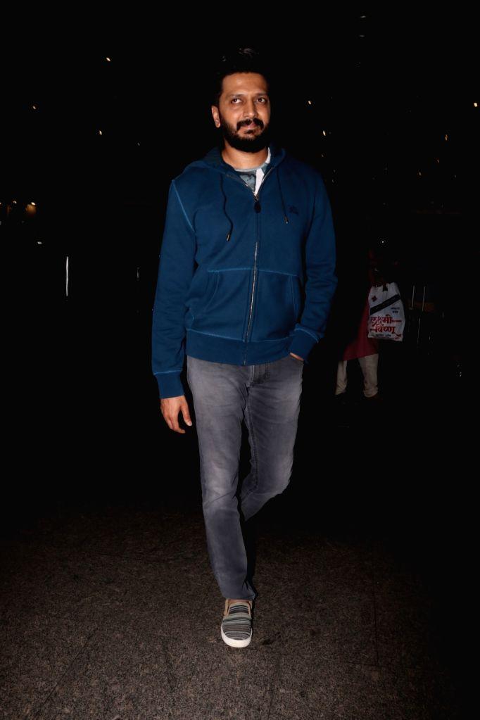 Actor Riteish Deshmukh spotted at airport, on June 23, 2017. - Riteish Deshmukh