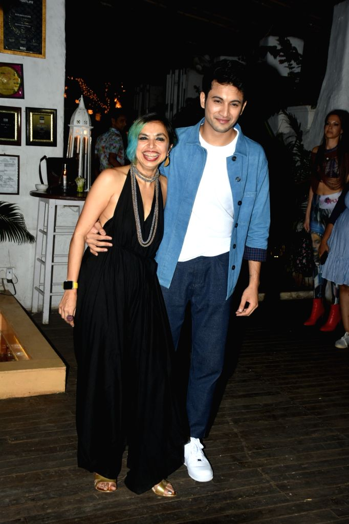 """Actor Rohit Saraf and director Shonali Bose at the wrap-up party of their upcoming film """"The Sky Is Pink"""", in Mumbai on June 11, 2019. - Rohit Saraf and Shonali Bose"""