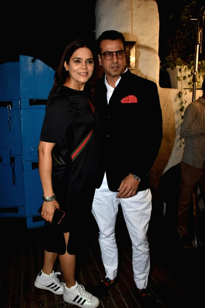 Actor Ronit Roy with his wife Neelam Singh at the launch of Dabboo Ratnani's calendar in Mumbai, on Jan 28, 2019. - Ronit Roy and Neelam Singh