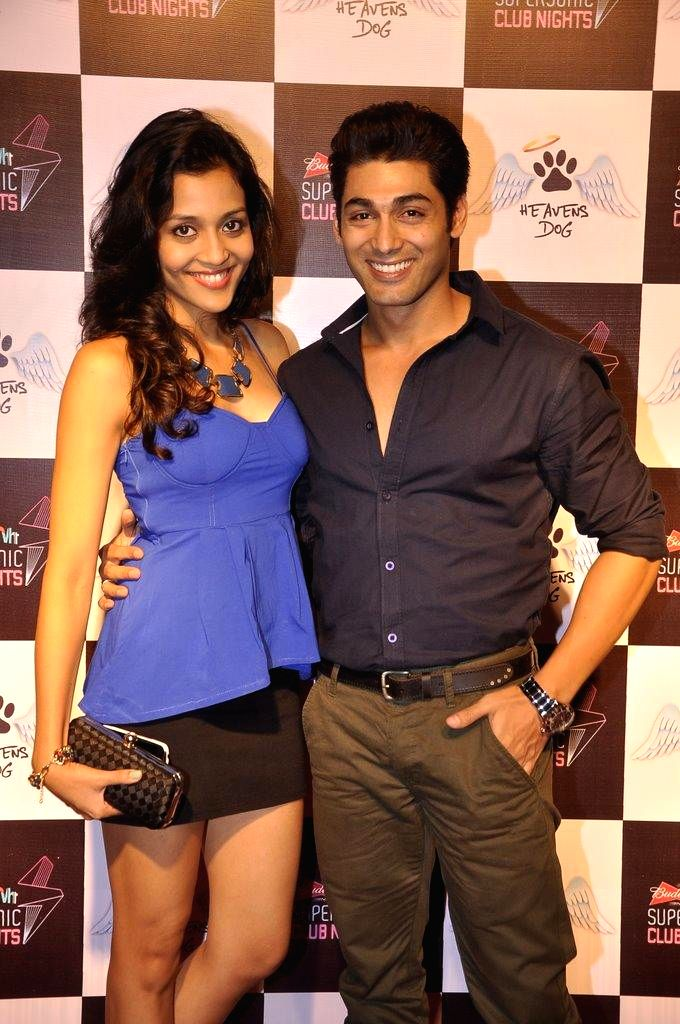 Actor Ruslaan Mumtaz with wife Nirali during the launch of restaurant Heavens Dog, in Mumbai, on Sept. 5, 2014. - Ruslaan Mumtaz