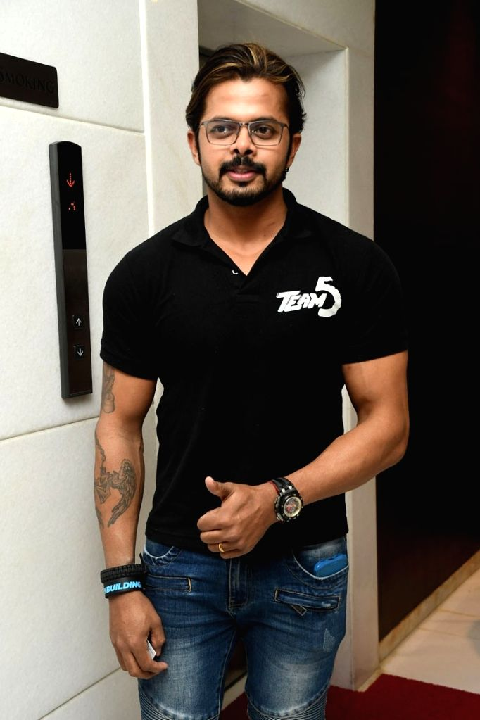 """Actor S. Sreesanth during the trailer launch of their upcoming Malayalam film """"Team 5"""". - S. Sreesanth"""