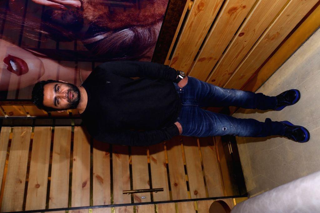 Actor Sachiin Joshi during the launch of Playboy Cafe in Gurgaon. - Sachiin Joshi