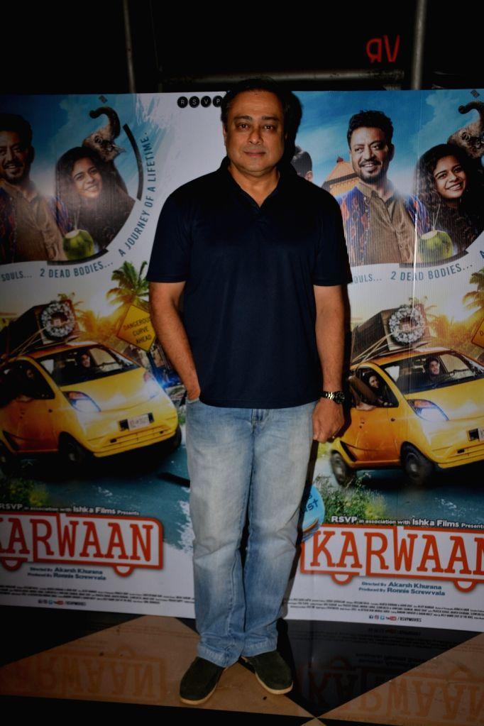 "Actor Sachin Khedekar at the special screening of his upcoming film ""Karwaan"", in Mumbai on Aug 2, 2018. - Sachin Khedekar"