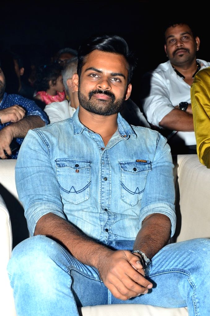 Actor Sai Dharam Teja during the movie auido launch of film Chicago on Hyderabad, July 05, 2017. - Sai Dharam Teja