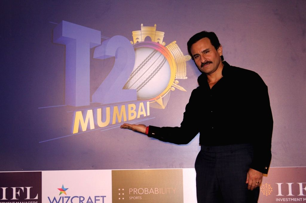 Actor Saif Ali Khan at the launch of Mumbai T20 League by Mumbai Cricket Association (MCA) on Dec 7, 2017. - Saif Ali Khan