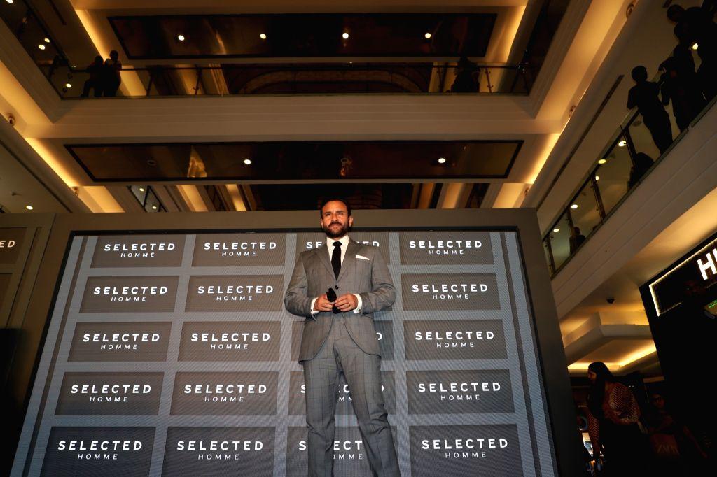 Actor Saif Ali Khan during a programme where he was announced as the Brand Ambassador of European Menswear brand 'Selected Homme', in Mumbai on Sep 27, 2019. - Saif Ali Khan