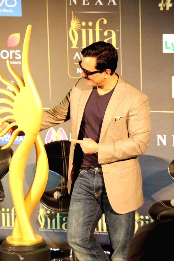 Actor Saif Ali Khan during the press conference of 18th International Indian Film Academy (IIFA) awards in Mumbai, on June 18, 2017. - Saif Ali Khan