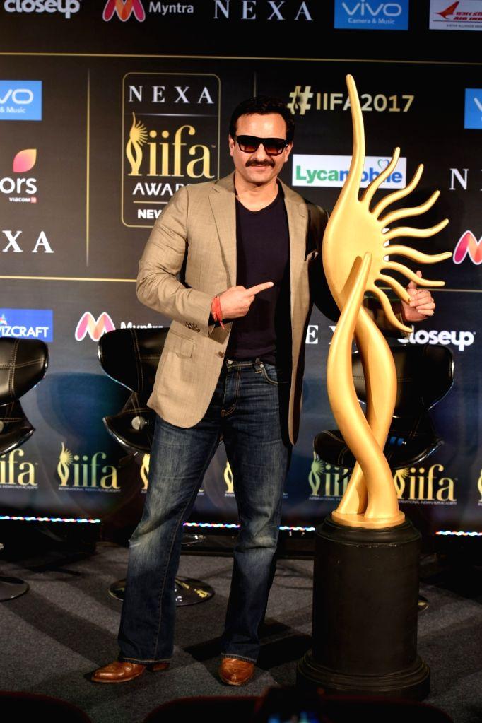 Actor Saif Ali Khan during the press conference of 18th International Indian Film Academy (IIFA) awards in Mumbai on June 19, 2017. - Saif Ali Khan