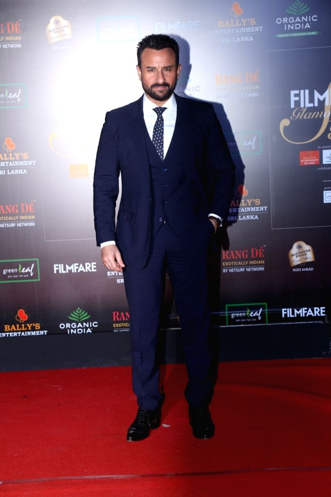 Actor Saif Ali Khan on the red carpet of Filmfare Glamour And Style Awards 2019 in Mumbai on Dec 3, 2019. - Saif Ali Khan