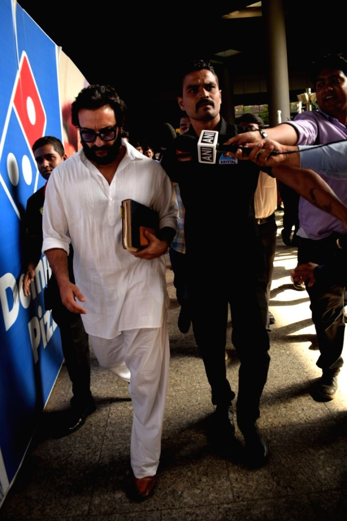 Actor Saif Ali Khan returned to Mumbai after being acquitted by a Jodhpur court in the blackbuck poaching case in Mumbai on April 5, 2018. - Saif Ali Khan