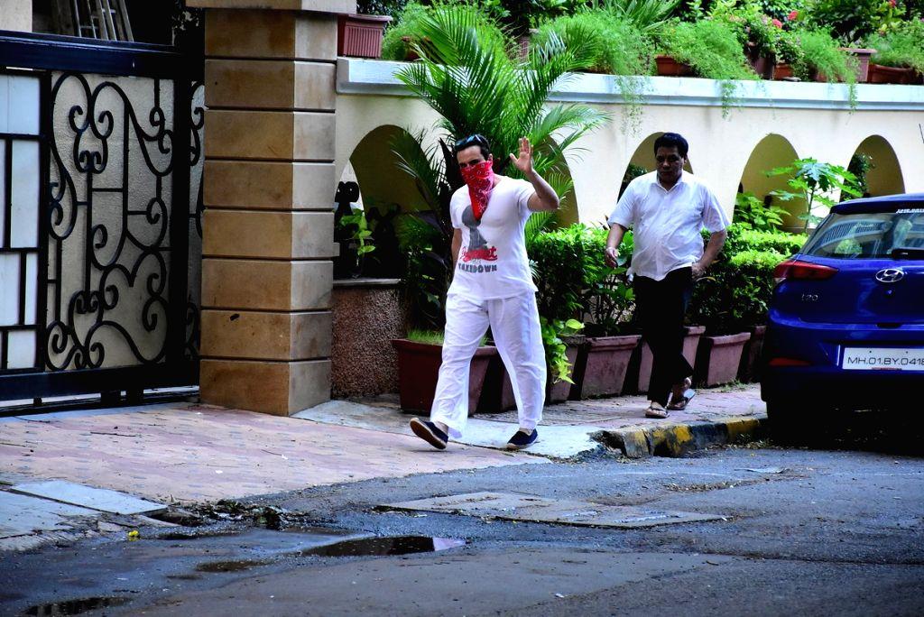 Actor Saif Ali Khan seen at Bandra in Mumbai on July 10, 2020. - Saif Ali Khan