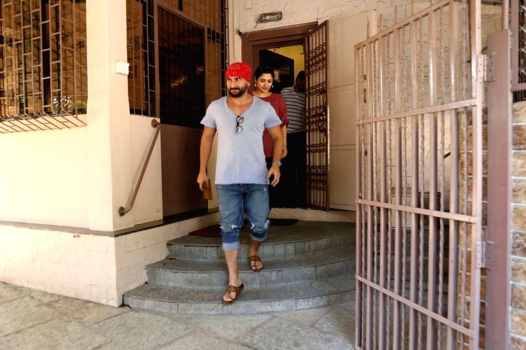 Actor Saif Ali Khan seen at Bandra on May 25, 2019. - Saif Ali Khan