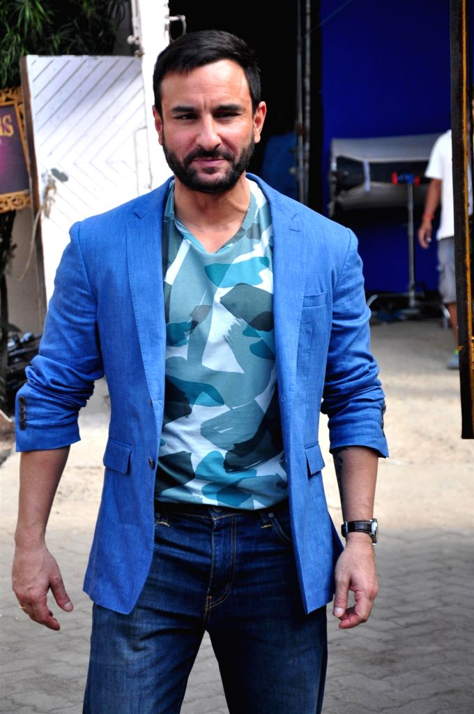 Actor Saif Ali Khan spotted in Bandra in Mumbai, on Aug 20, 2015. - Saif Ali Khan
