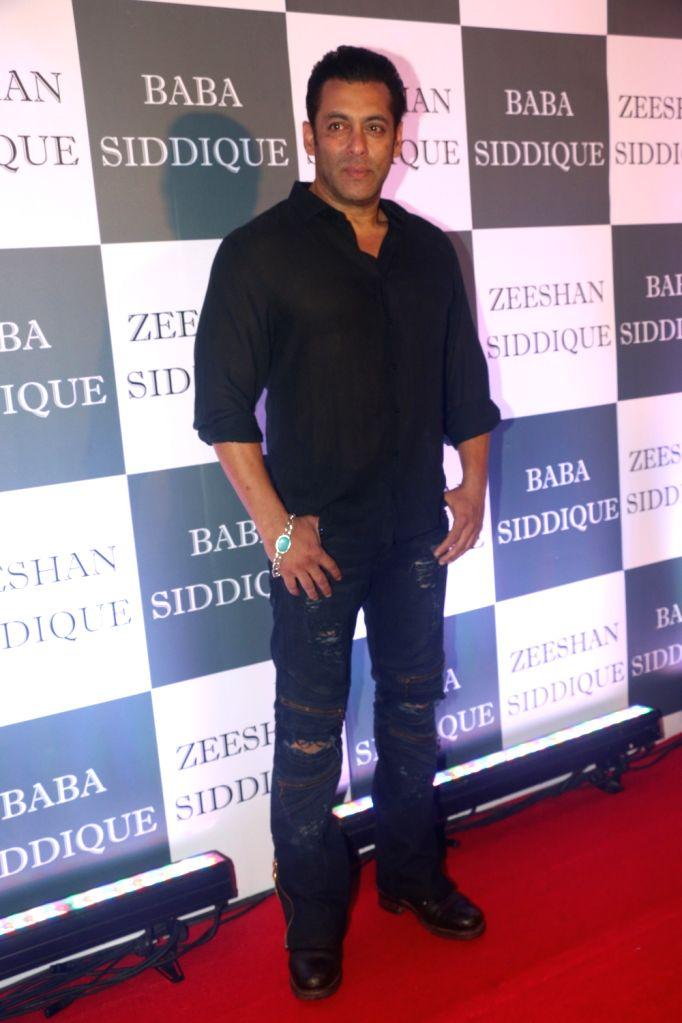 Actor Salman Khan at Congress leader Baba Siddique's Iftar party in Mumbai, on June 2, 2019. - Salman Khan