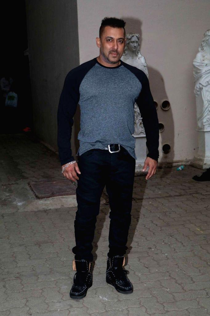 Actor Salman Khan at Mehboob studio in Mumbai. - Salman Khan
