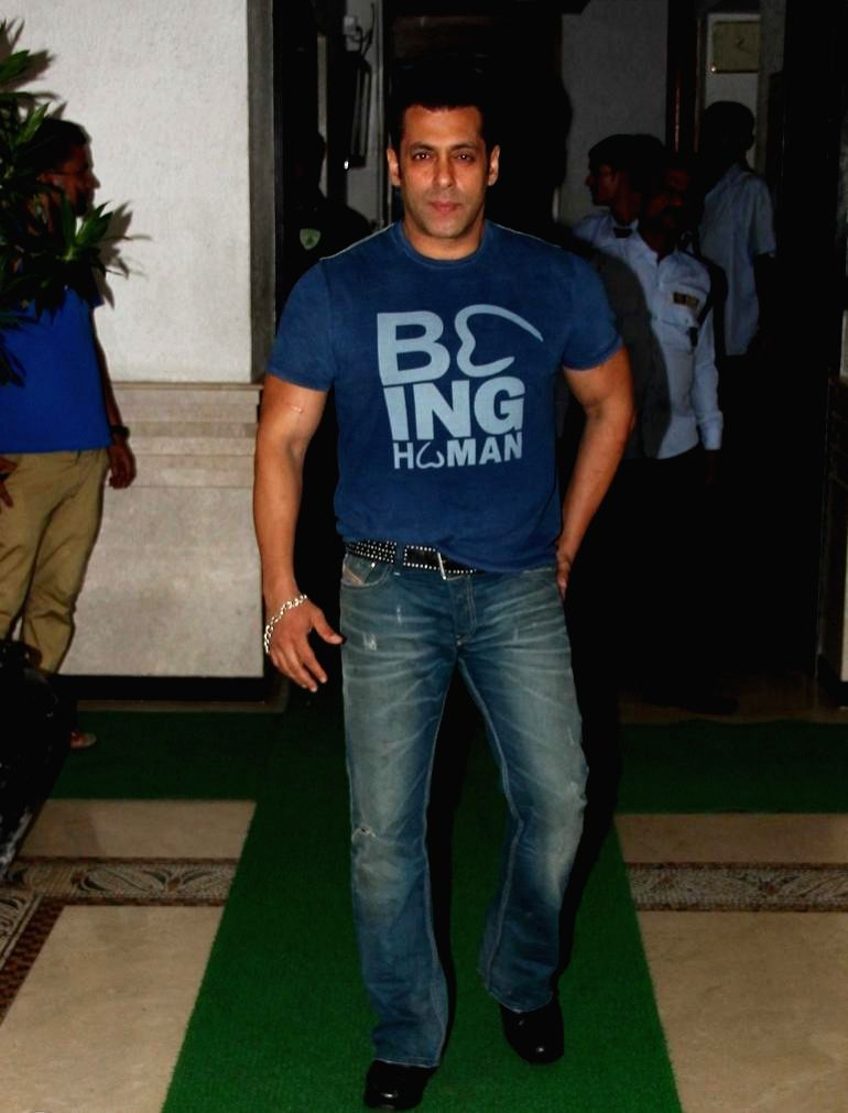 Actor Salman Khan at Sidharth Malhotra hosted party for Ek Villain success at his residence in Mumbai on June 28, 2014. - Salman Khan