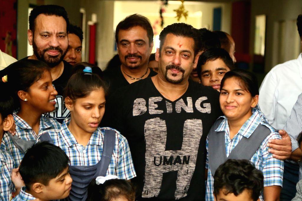 "Actor Salman Khan at the inauguration of ""Umang""a centre for special childrenin Jaipur on Sept 18, 2018. - Salman Khan"