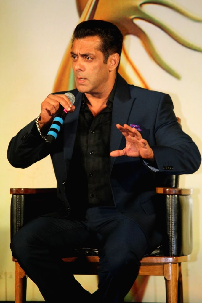 Actor Salman Khan at the Indian International Film Awards (IIFA) 2019 press conference in Mumbai, on Sep 5, 2019. - Salman Khan