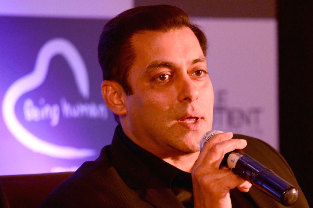 Actor Salman Khan at the launch of  Being Human Jewellery in New Delhi, on Sept 30, 2016. - Salman Khan