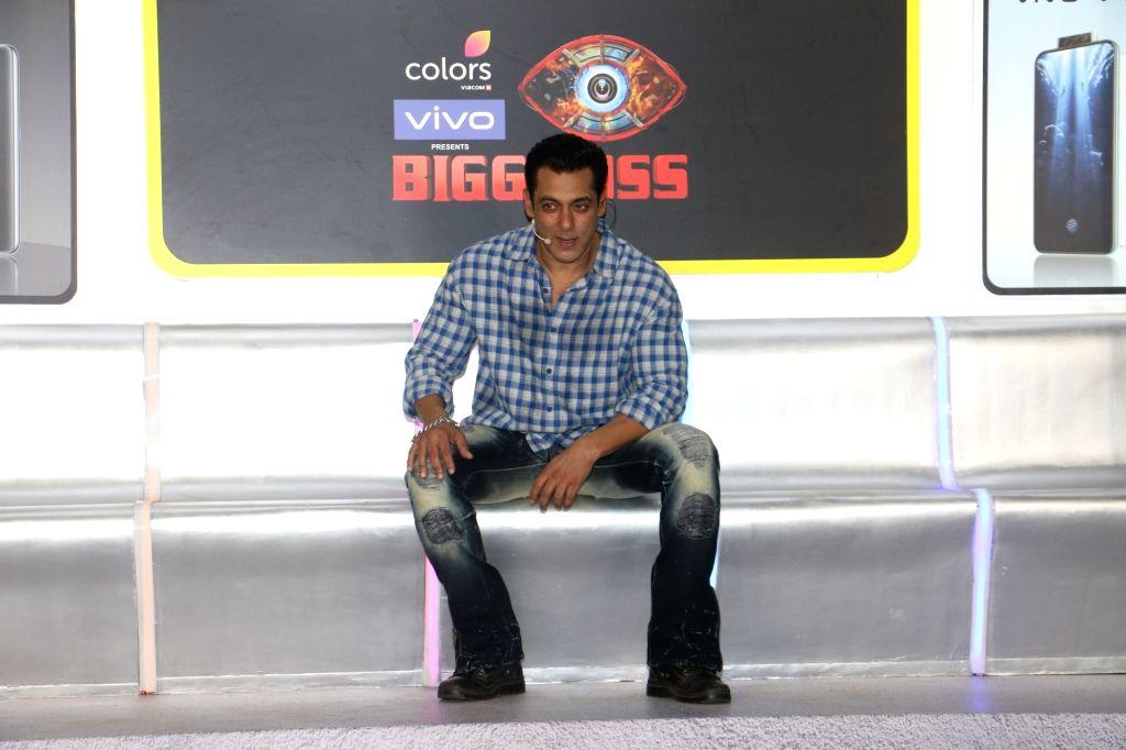 "Actor Salman Khan at the launch of ""Big Boss"" in Andheri, Mumbai on Sep 23, 2019. - Salman Khan"
