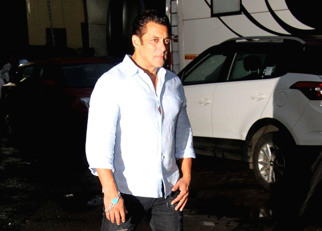 "Actor Salman Khan at the screening of his upcoming film ""Bharat"", in Mumbai on June 12, 2019. - Salman Khan"