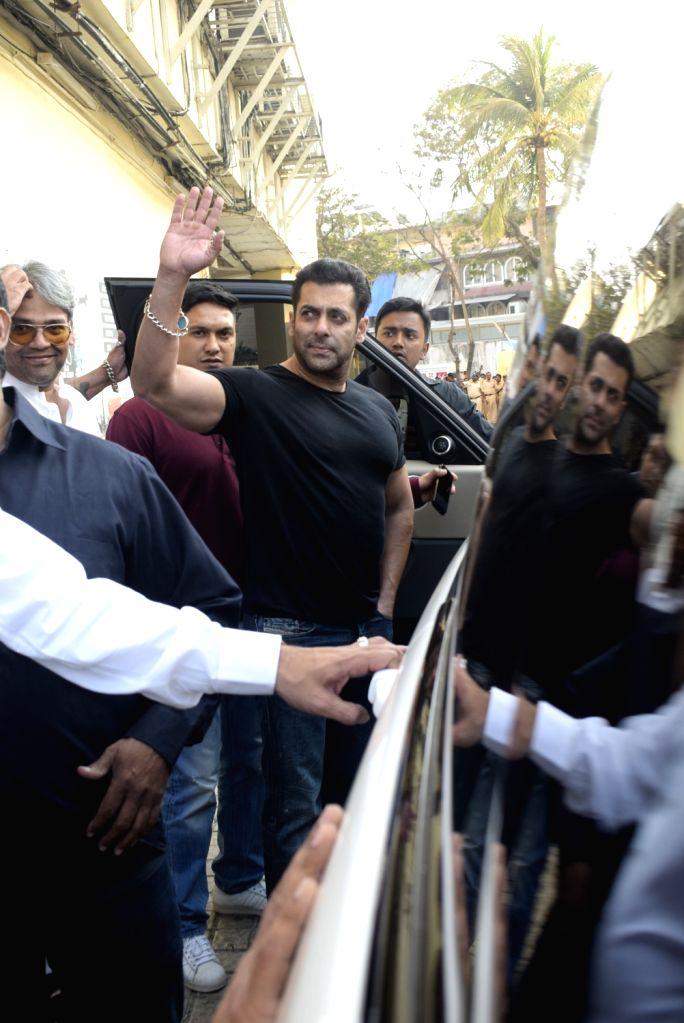 "Actor Salman Khan at the trailer launch of upcoming film ""Notebook"" in Mumbai, on Feb 22, 2019. - Salman Khan"