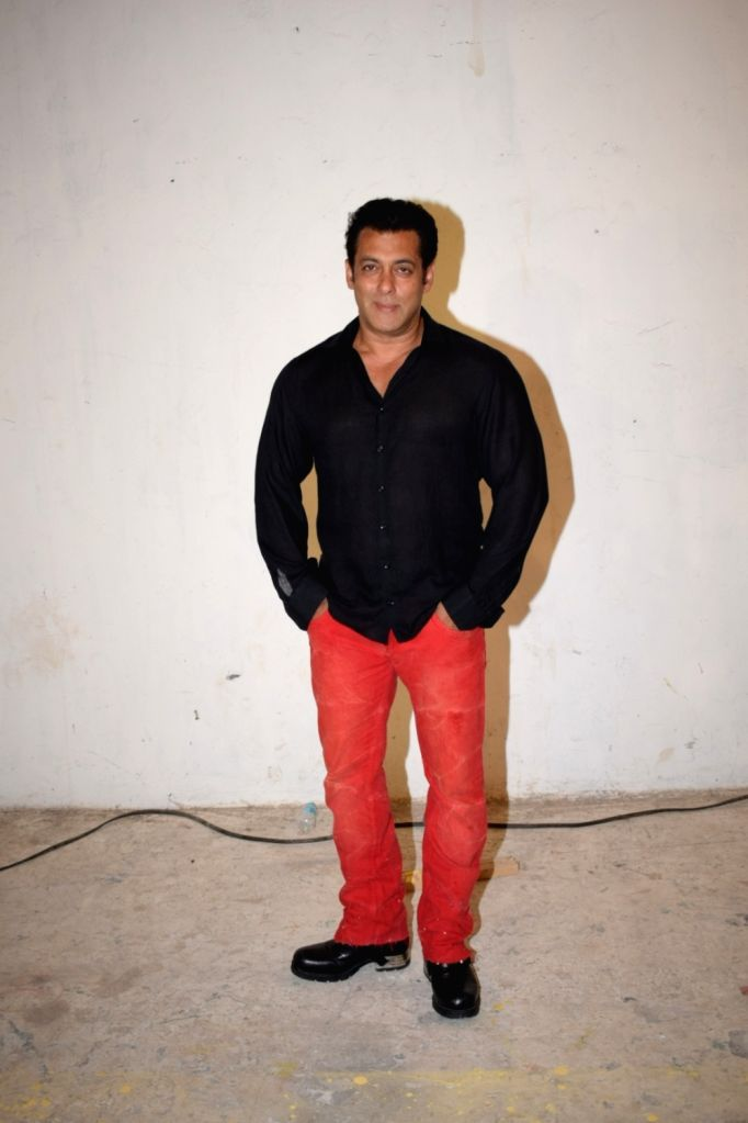 Actor Salman Khan during a media interaction at a Mumbai studio on May 20, 2018. - Salman Khan