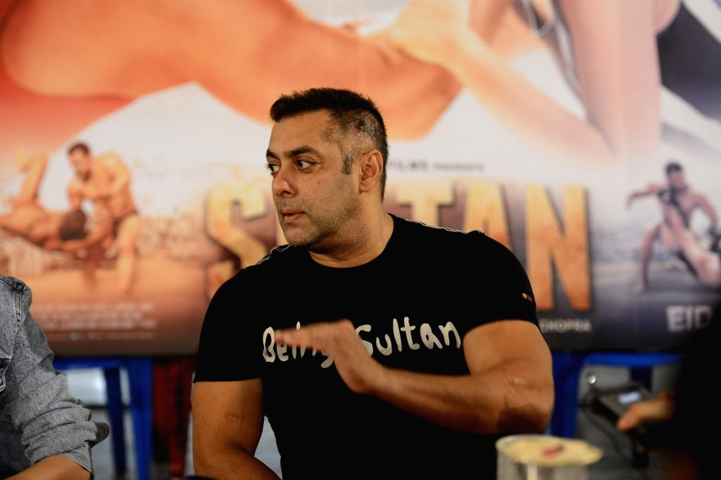 Actor Salman Khan during a media interaction for success of the film Sultan, in Mumbai, on July 15, 2016. - Salman Khan