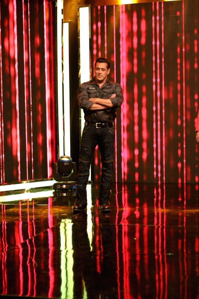 Actor Salman Khan during a programme at Star Sports studio, in Mumbai, on May 12, 2019. - Salman Khan