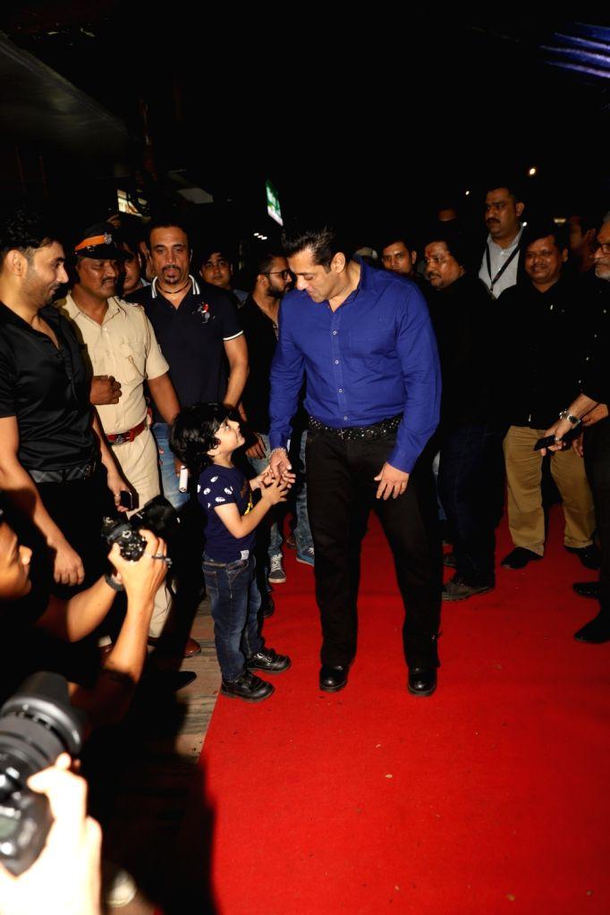 "Actor Salman Khan during a special event organised to celebrate 25 years of the film ""Hum Aapke Hain Koun"", in Mumbai on Aug 9, 2019. - Salman Khan"