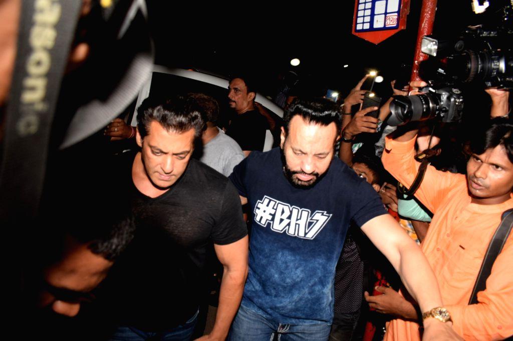 Actor Salman Khan during the launch of Jacqueline Fernandez's new restaurant in Mumbai on June 1, 2018. - Salman Khan