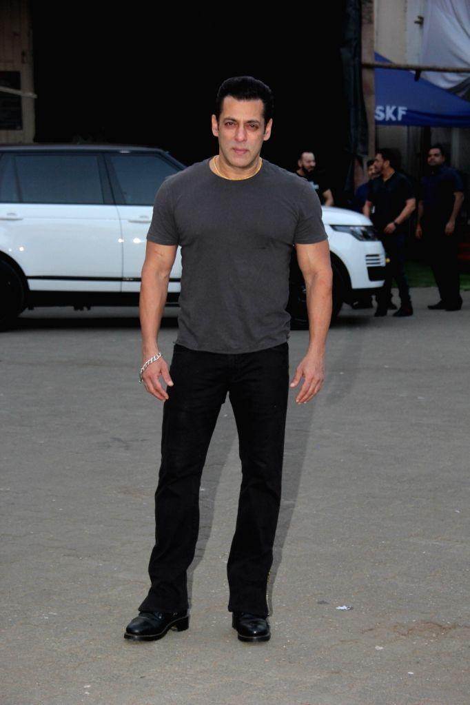 "Actor Salman Khan during the promotions of his upcoming film ""Dabangg 3"", in Mumbai on Dec 14, 2019. - Salman Khan"