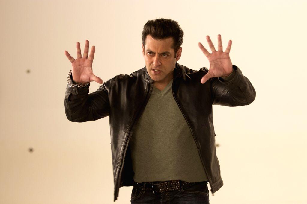 "Actor Salman Khan during the shooting of a promo for his upcoming television show ""10 Ka Dum"" in Mumbai on Feb 14, 2018. - Salman Khan"