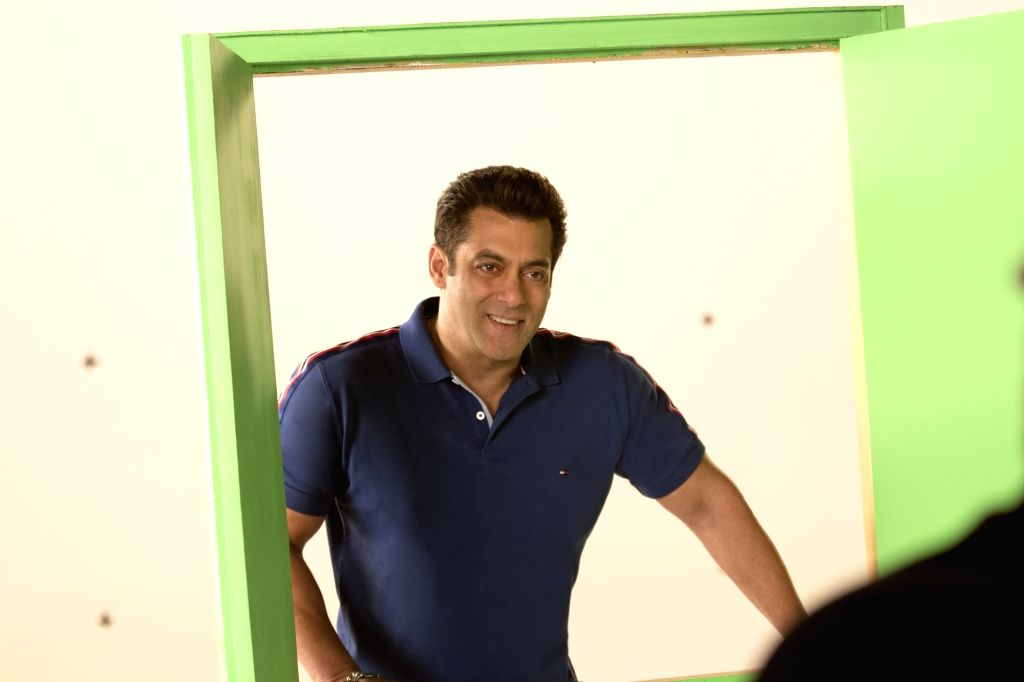 "Actor Salman Khan during the shooting of a promo for his upcoming television show ""10 Ka Dum"" in Mumbai on Feb 14, 2018. - Salman Khan"