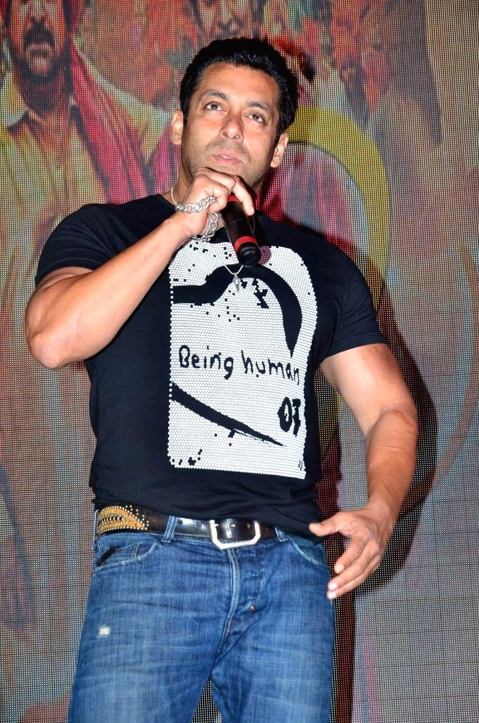Actor Salman Khan during the trailer of Marathi film Janiva in Mumbai, on July 10, 2015. - Salman Khan