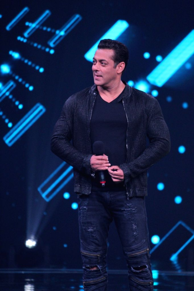 "Actor Salman Khan on the sets of a dance reality show ""Super Dancer chapter 3"", in Mumbai on May 27, 2019. - Salman Khan"
