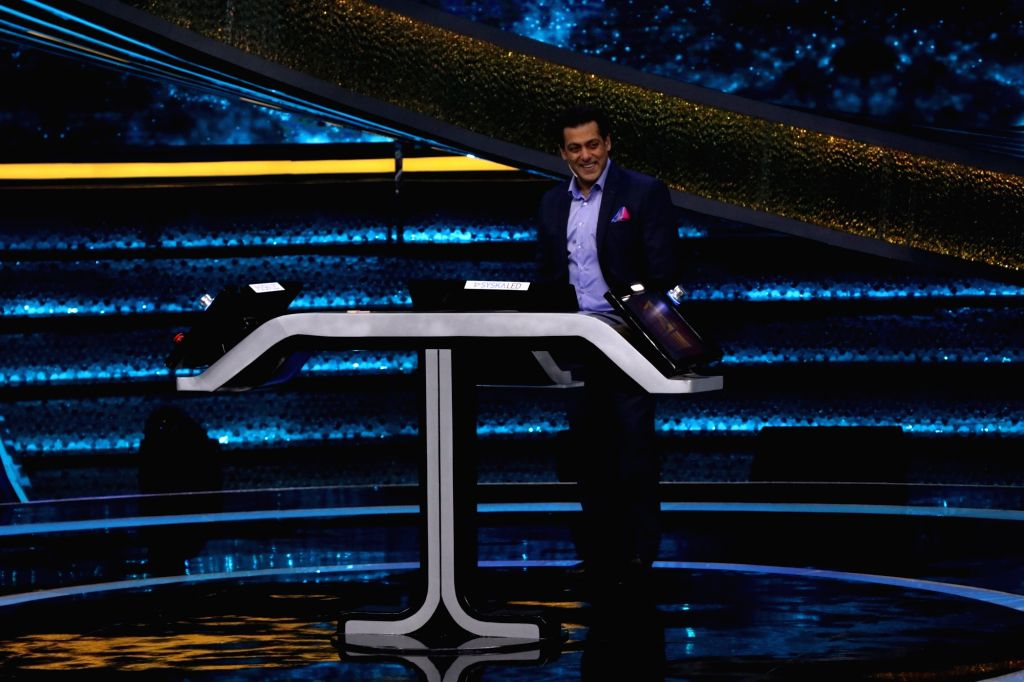 "Actor Salman Khan on the sets of reality television show ""Dus Ka Dum"" in Mumbai on July 16, 2018. - Salman Khan"