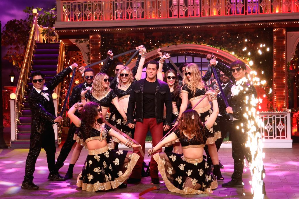 "Actor Salman Khan performs on the sets of ""The Kapil Sharma Show"". - Salman Khan"