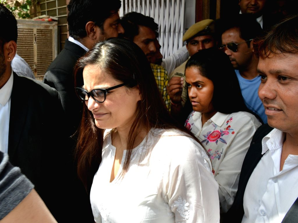 Actor Salman Khan's sisters Arpita and Alvira Khan arrive at a Jodhpur rural court on April 6, 2018. Salman Khan was sentenced to five years of imprisonment in the 1998 black buck poaching ... - Salman Khan, Alvira Khan and Saif Ali Khan