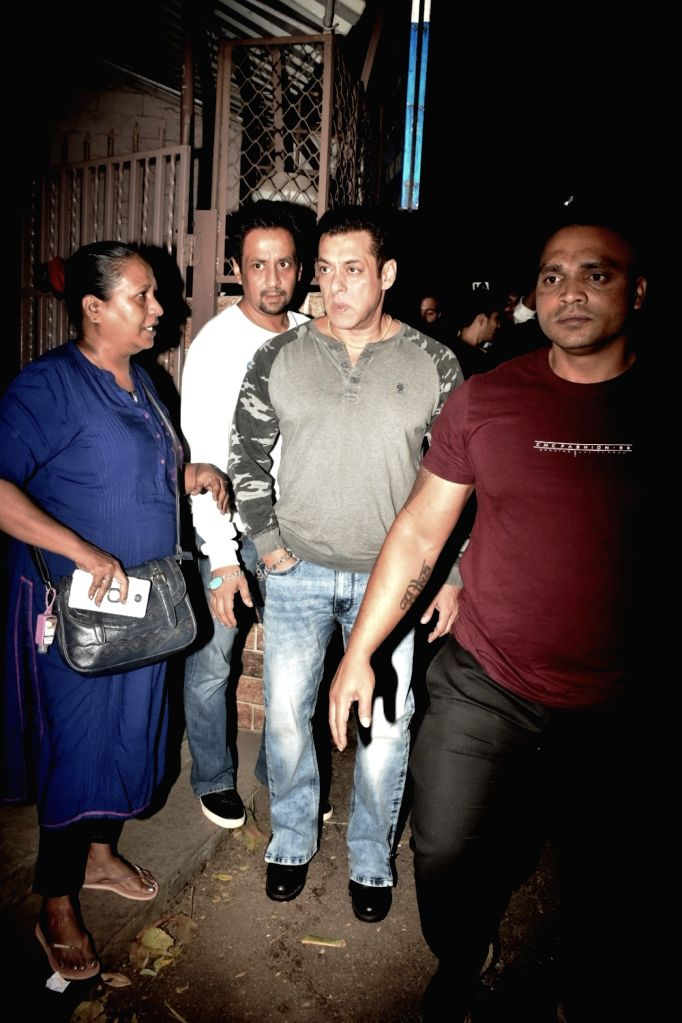 Actor Salman Khan seen at Bandra in Mumbai on Dec 4, 2019. - Salman Khan