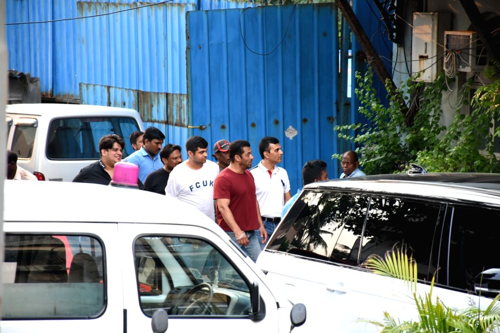 Actor Salman Khan seen at Bandra in Mumbai on Oct 10, 2019. - Salman Khan