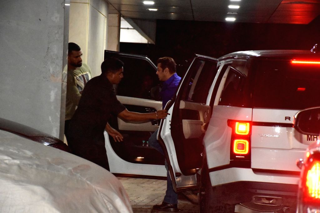 Actor Salman Khan seen outside Sohail Khan's house, in Mumbai, on June 16, 2019. - Salman Khan and Sohail Khan