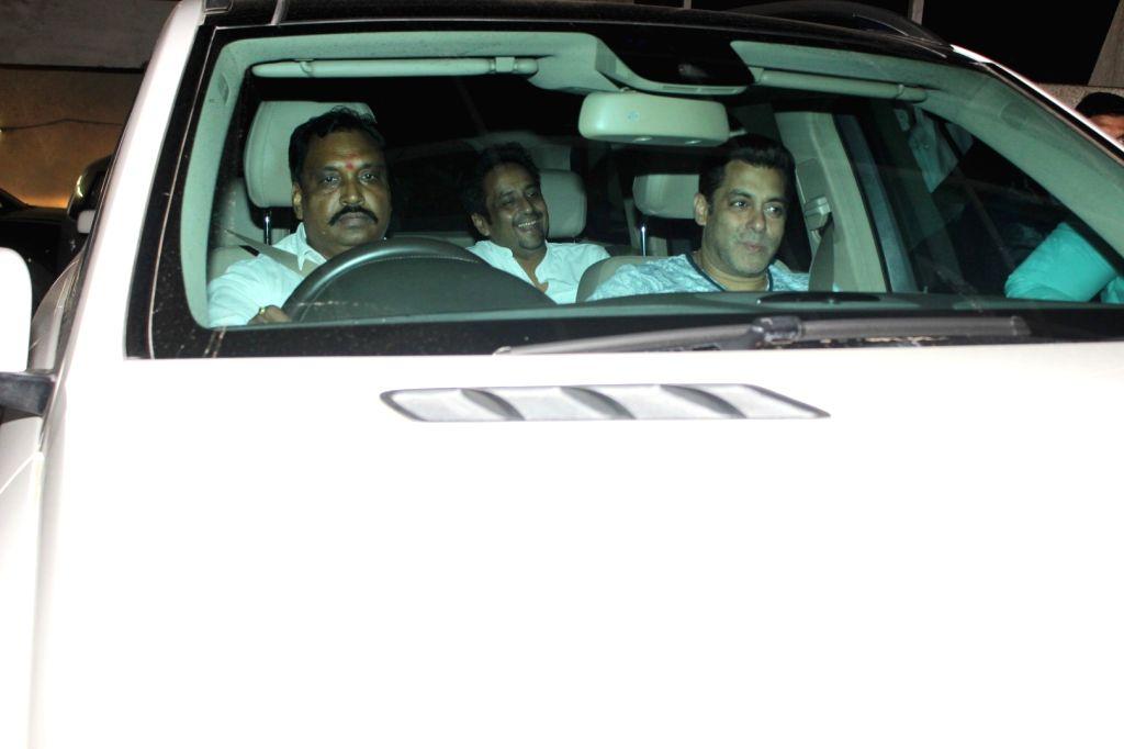 Actor Salman Khan spotted at Light Box for screening of film Tubelight in Mumbai on June 21, 2017. - Salman Khan