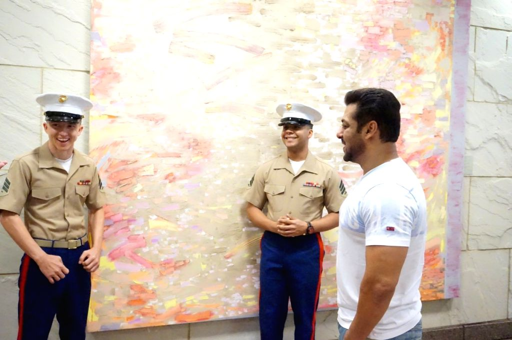 Actor Salman Khan takes travel tips from the officials at US Consulate in Mumbai before flying off to New York for IIFA. - Salman Khan