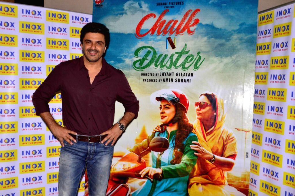 Actor Samir Soni during the Screening of film Chalk N Duster in Mumbai. - Samir Soni